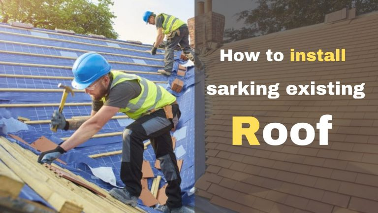 how-to-install-sarking-in-the-existing-roof